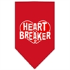 Mirage Pet Products Heart Breaker Screen Print Bandana Red Large