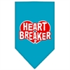 Mirage Pet Products Heart Breaker Screen Print Bandana Turquoise Large