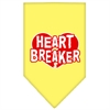 Mirage Pet Products Heart Breaker Screen Print Bandana Yellow Small