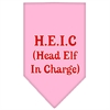 Mirage Pet Products Head elf In Charge Screen Print Bandana Light Pink Large