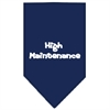 Mirage Pet Products High Maintenance Screen Print Bandana Navy Blue Large