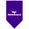 Mirage Pet Products High Maintenance Screen Print Bandana Purple Small