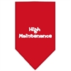 Mirage Pet Products High Maintenance Screen Print Bandana Red Small