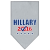 Mirage Pet Products Hillary Checkbox Election Screenprint Bandanas Grey Large
