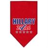 Mirage Pet Products Hillary Checkbox Election Screenprint Bandanas Red Large
