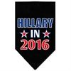 Mirage Pet Products Hillary in 2016 Election Screenprint Bandanas Black Large