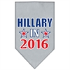 Mirage Pet Products Hillary in 2016 Election Screenprint Bandanas Grey Large