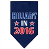 Mirage Pet Products Hillary in 2016 Election Screenprint Bandanas Navy Blue Small