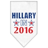 Mirage Pet Products Hillary in 2016 Election Screenprint Bandanas White Small