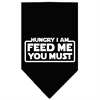 Mirage Pet Products Hungry I Am Screen Print Bandana Black Large