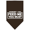 Mirage Pet Products Hungry I Am Screen Print Bandana Cocoa Large