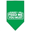 Mirage Pet Products Hungry I Am Screen Print Bandana Emerald Green Large