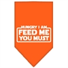 Mirage Pet Products Hungry I Am Screen Print Bandana Orange Large