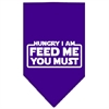 Mirage Pet Products Hungry I Am Screen Print Bandana Purple Small