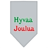 Mirage Pet Products Hyvaa Joulua Screen Print Bandana Grey Small