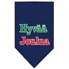 Mirage Pet Products Hyvaa Joulua Screen Print Bandana Navy Blue large