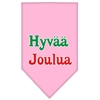 Mirage Pet Products Hyvaa Joulua Screen Print Bandana Light Pink Large