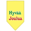 Mirage Pet Products Hyvaa Joulua Screen Print Bandana Yellow Large
