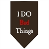 Mirage Pet Products I Do Bad Things  Screen Print Bandana Cocoa Small