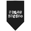 Mirage Pet Products I Have Issues Screen Print Bandana Black Large