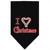 Mirage Pet Products Heart Christmas Screen Print Bandana Black Large