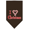Mirage Pet Products Heart Christmas Screen Print Bandana Cocoa Large