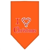 Mirage Pet Products Heart Christmas Screen Print Bandana Orange Large