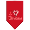 Mirage Pet Products Heart Christmas Screen Print Bandana Red Large
