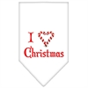 Mirage Pet Products Heart Christmas Screen Print Bandana White Small