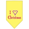 Mirage Pet Products Heart Christmas Screen Print Bandana Yellow Large