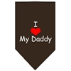 Mirage Pet Products I Heart My Daddy  Screen Print Bandana Cocoa Small