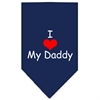 Mirage Pet Products I Heart My Daddy  Screen Print Bandana Navy Blue large