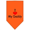 Mirage Pet Products I Heart My Daddy  Screen Print Bandana Orange Small
