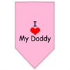 Mirage Pet Products I Heart My Daddy  Screen Print Bandana Light Pink Large