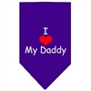 Mirage Pet Products I Heart My Daddy  Screen Print Bandana Purple Large