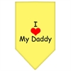 Mirage Pet Products I Heart My Daddy  Screen Print Bandana Yellow Small