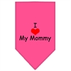 Mirage Pet Products I Heart My Mommy  Screen Print Bandana Bright Pink Small