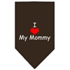 Mirage Pet Products I Heart My Mommy  Screen Print Bandana Cocoa Large