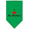 Mirage Pet Products I Heart My Mommy  Screen Print Bandana Emerald Green Large