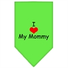 Mirage Pet Products I Heart My Mommy  Screen Print Bandana Lime Green Large
