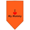 Mirage Pet Products I Heart My Mommy  Screen Print Bandana Orange Small