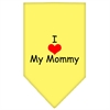 Mirage Pet Products I Heart My Mommy  Screen Print Bandana Yellow Large