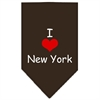 Mirage Pet Products I Heart New York  Screen Print Bandana Cocoa Large
