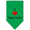 Mirage Pet Products I Heart New York  Screen Print Bandana Emerald Green Small