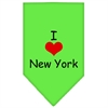 Mirage Pet Products I Heart New York  Screen Print Bandana Lime Green Large