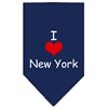 Mirage Pet Products I Heart New York  Screen Print Bandana Navy Blue Small
