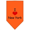 Mirage Pet Products I Heart New York  Screen Print Bandana Orange Large