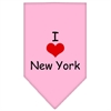 Mirage Pet Products I Heart New York  Screen Print Bandana Light Pink Large