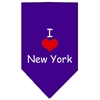 Mirage Pet Products I Heart New York  Screen Print Bandana Purple Large