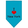 Mirage Pet Products I Heart New York  Screen Print Bandana Turquoise Large